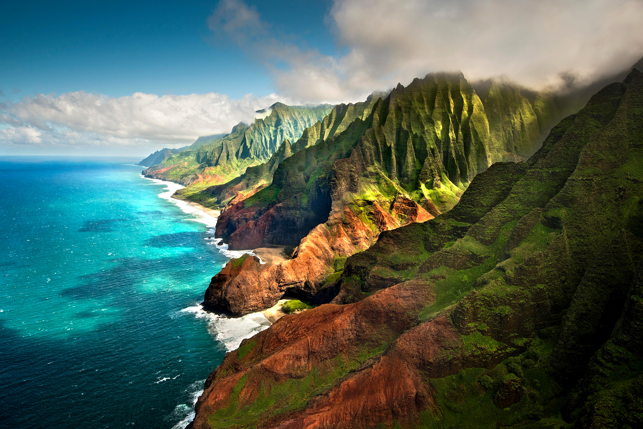 Na Pali coast, North Shore, Kaua'i, Hawaii